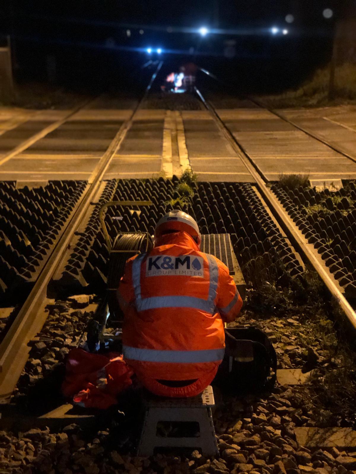 Blocked drain cctv drain survey in London for Rail